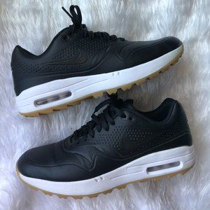 Nike Air Max 1 Black Gum Spikeless Golf Shoes Size